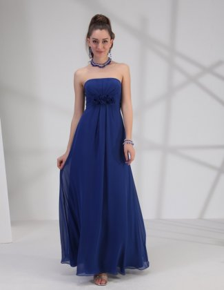 BM1683 chiffton bridesmain dress in cobalt