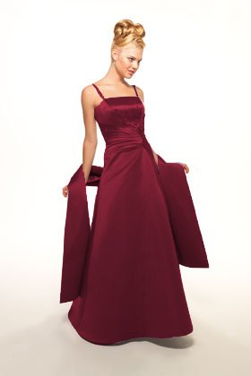 Cranberry red bridesmaid dress - front