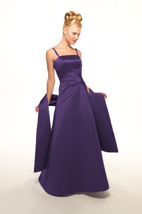 Cadbury purple bridesmaid dress - front